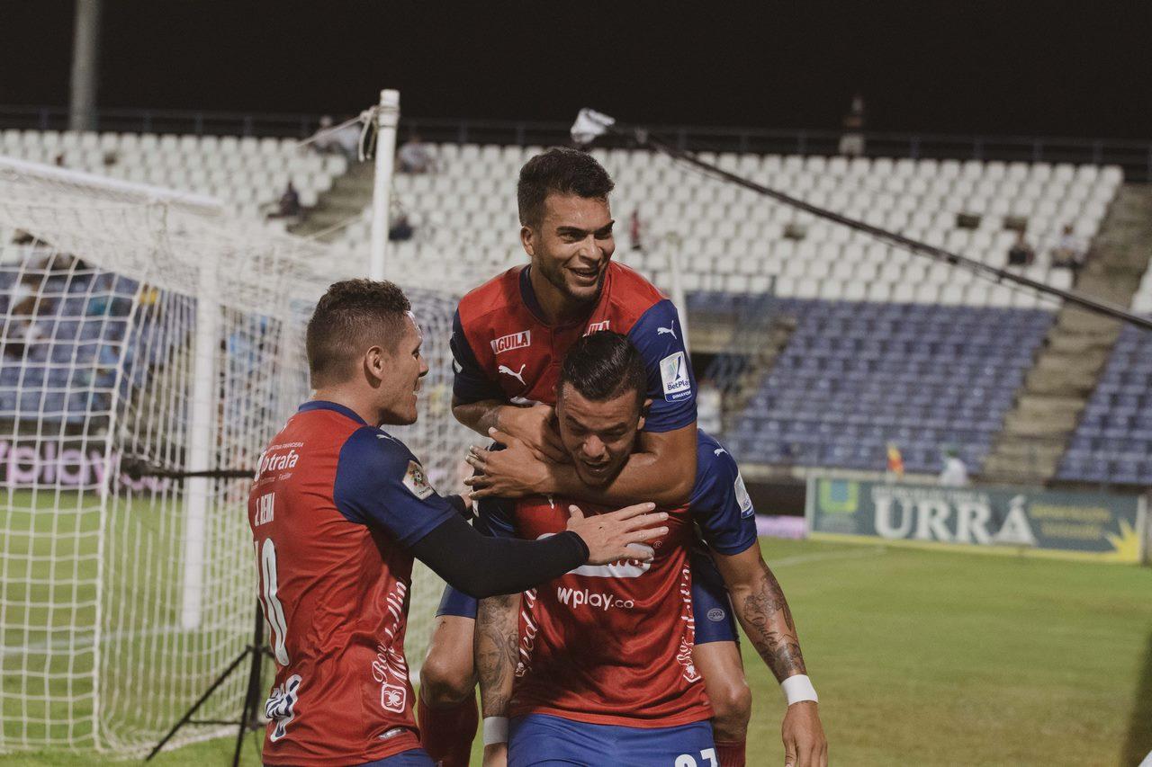 Leonardo Castro celebra gol con Independiente Medellin 18