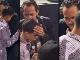Marc Anthony salio cantonandole al oido a un nino ciego