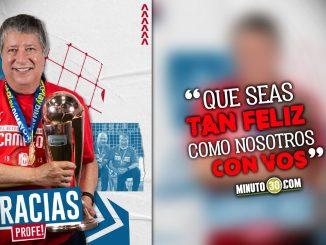 Mensajes de despedida de Independiente Medellin a Bolillo