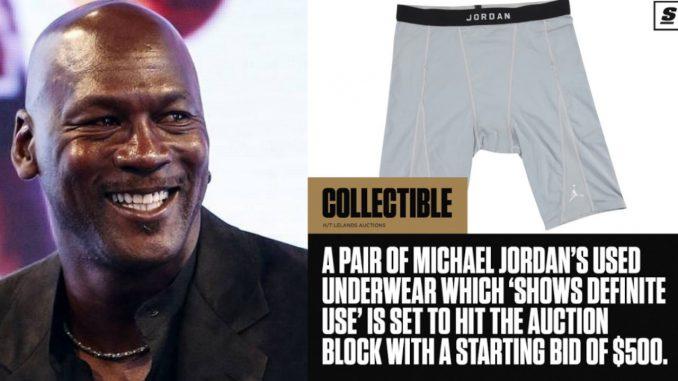 """Subastan los calzoncillos """"usados"""" de Michael Jordan"""