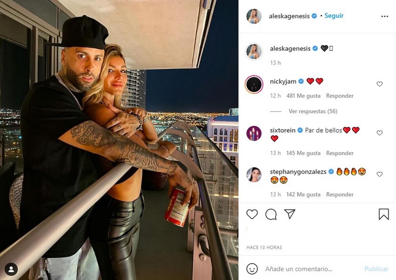 Nicky Jam y la modelo Aleska Genesis2 1