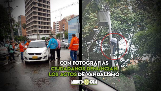 [Video] Protestas en Medellín: denuncian ataques a un carro particular y daños a una cámara LPR