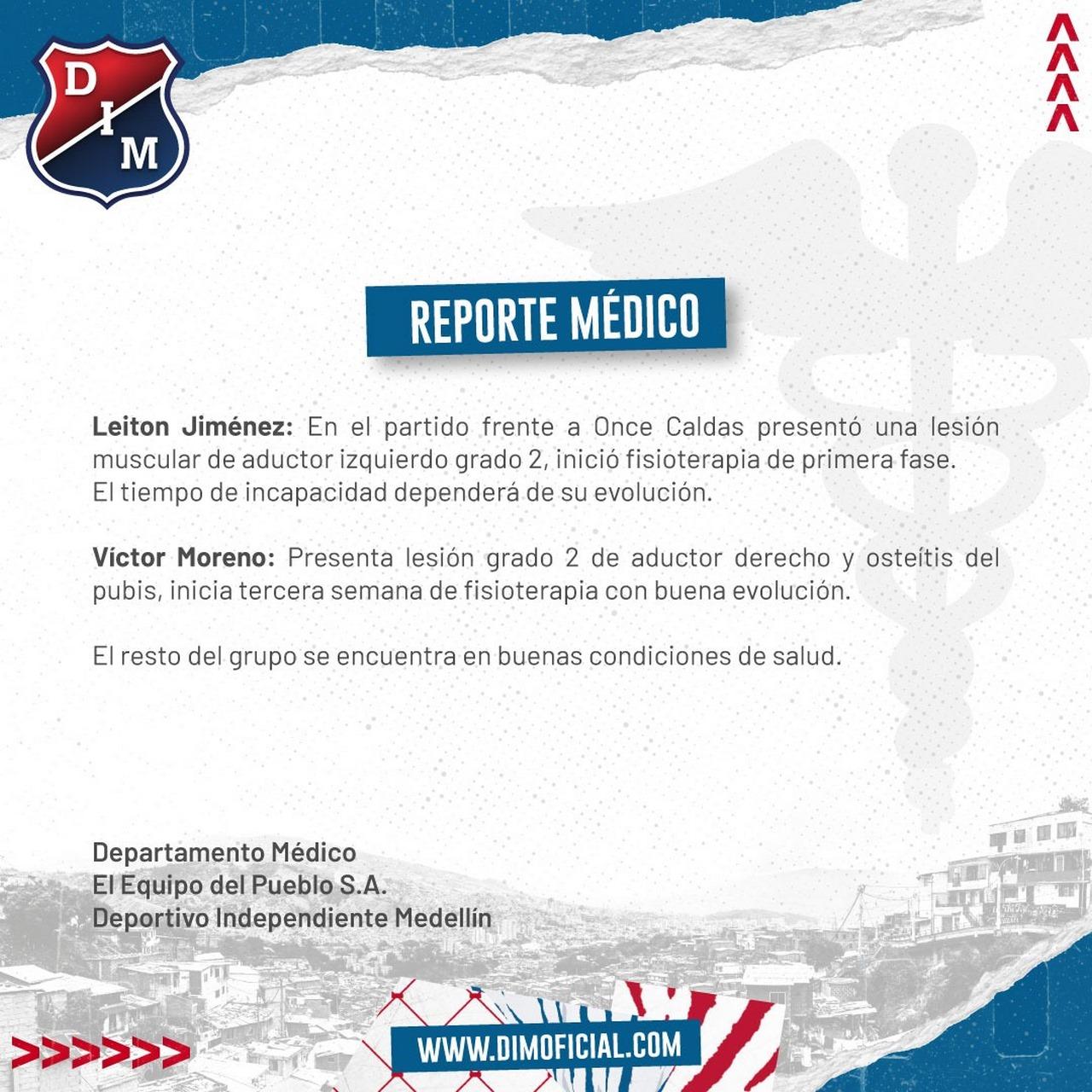 Reporte medico Medellin I