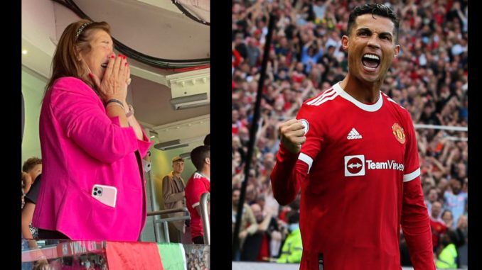 El llanto de felicidad de la mamá de Cristiano Ronaldo tras su doblete con el Manchester United