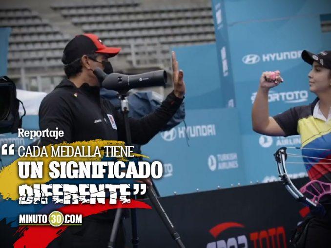 Sara Lopez y Nora Valdez en la final de la Copa Mundo de tiro con arco