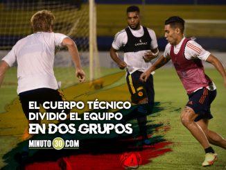Seleccion Colombia entreno en Paraguay de cara al juego del domingo