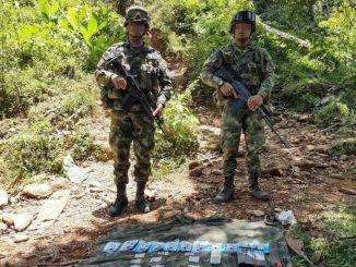 [Video] Soldados encontraron explosivos que serían del ELN en Tarazá, Antioquia