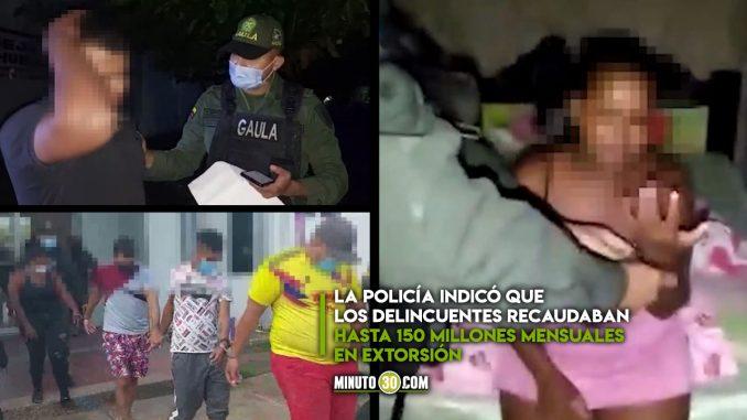 [Video] Supuestos extorsionistas lloraron cuando la Policía los capturó