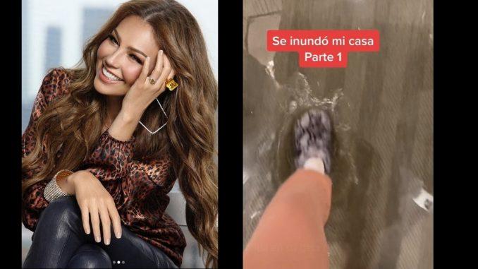 Viral: Thalía reveló los estragos que dejó el huracán Ida en su casa
