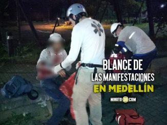 Una persona perdió un ojo y otra más le explotó un artefacto encima, en total son 6 los heridos durante las protestas