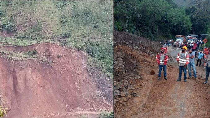 Por derrumbe continúa cerrada la vía Medellín - Urabá