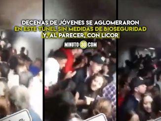 Fiesta clandestina en túnel de Amagá, Antioquia
