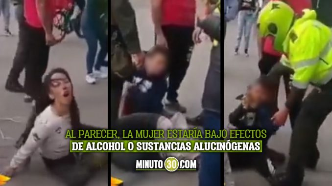 Mujer maltrata a su propio hijo en plena vía pública