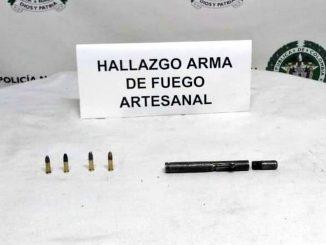Incautaron arma de fuego artesanal en el Doce de Octubre