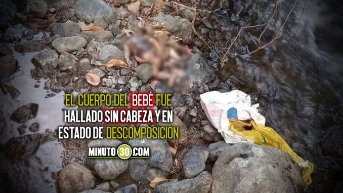 Encontraron un bebé sin cabeza en Caloto, Cauca