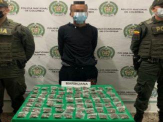 Cayó alias 'Cabezón' con una bolsa 'llena' de marihuana