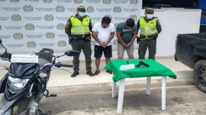 Capturados cuando huían con una moto hurtada en Cesar