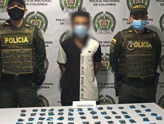 Lo cogieron en Ciudad Bolívar con más de 60 dosis de marihuana