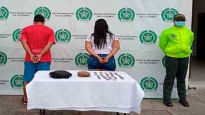 Capturaron a 'Milena' y a 'Sebastián' 600 dosis de marihuana