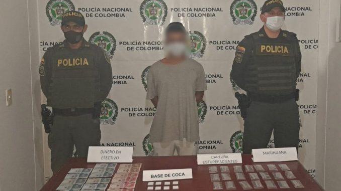 Lo cogieron con base de coca y marihuana en Puerto Triunfo