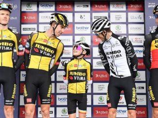 Un niño les dio la talla a los ciclistas en el Tour de Gran Bretaña