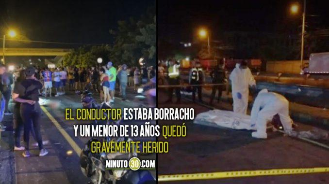 Seis jóvenes murieron atropellados en la vía Gaira-Santa Marta