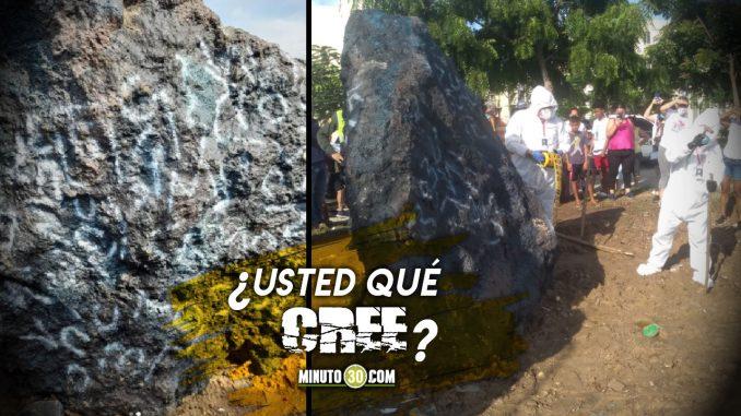 ¿Un meteorito? Asombro en Barranquilla por extraña piedra