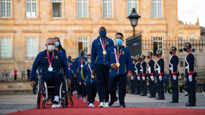 Homenajearon a los deportistas colombianos que participaron en los Juegos Paralímpicos en Tokio