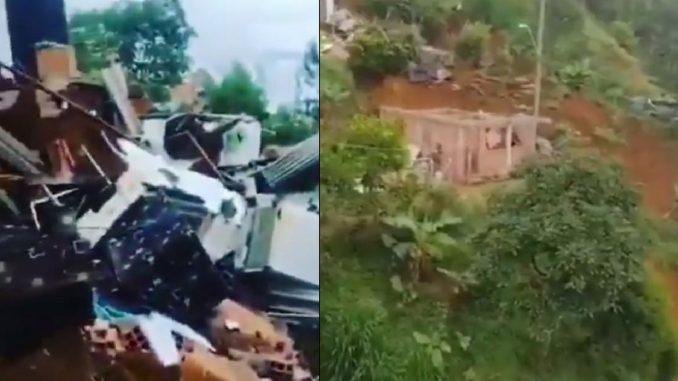Deslizamiento de tierra en Santo Domingo