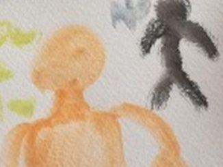 dibujo nino migrante bogota venezolano
