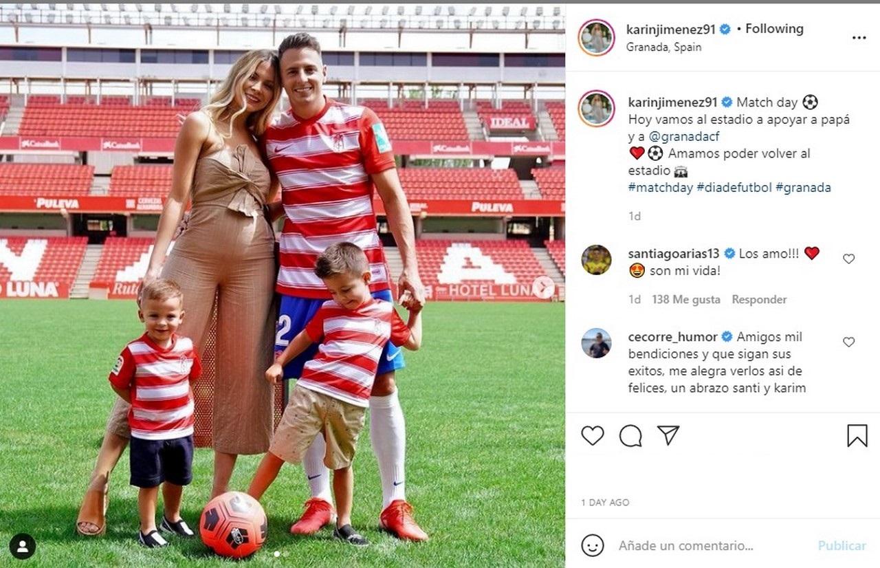 esposa del futbolista Santiago Arias Karin Jimenez