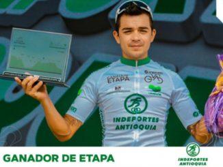 Fabio Duarte, ganador de la etapa 4 de la 'Vuelta Antioquia'