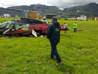 Un helicóptero que salió de Puerto Berrio, Antioquia, se accidentó en Cundinamarca