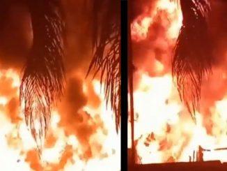 [Video] Voraz incendio en la Avenida de Greiff, Bomberos ya llegaron al lugar