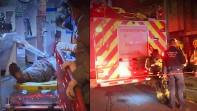 Un carro se incendió en un garaje y dos mujeres resultaron heridas