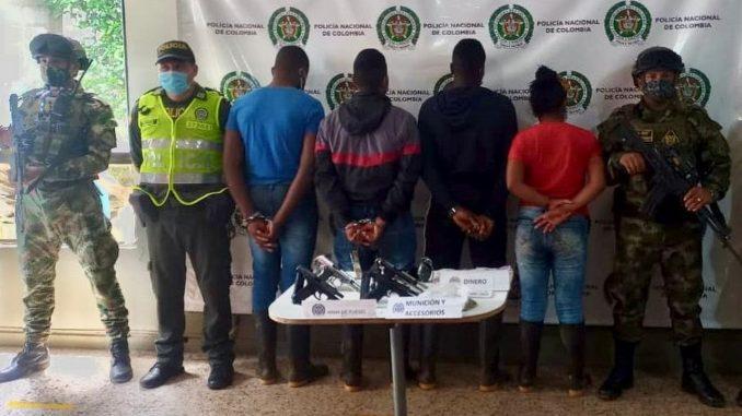 Capturaron a 4 presuntos integrantes del GAO-r Jaime Martínez