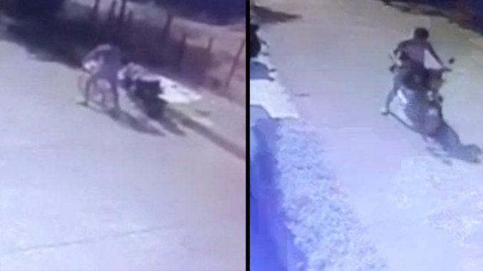 [Video] Ladrón se robó una moto y dejó tirada la 'cicla' en la que iba