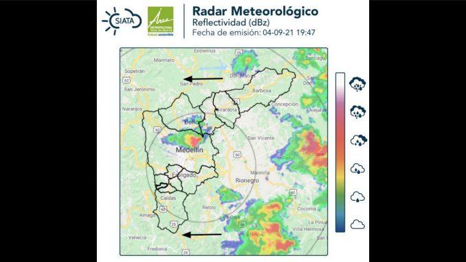 Llueve fuerte sobre algunos sectores de Medellín