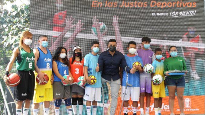 Iniciaron las Justas Deportivas en Medellín, integrarán a 26.558 deportistas de toda la ciudad