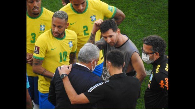 argentina-brasil La reacción de Messi a la suspensión del partido Brasil vs Argentina