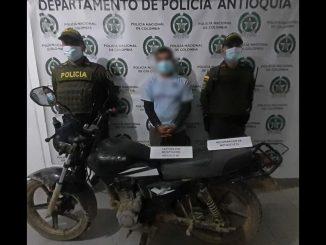 Este sujeto intentó robarse una motocicleta en Andes