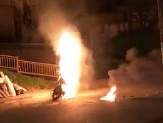 moto quemada doce octubre ladrones