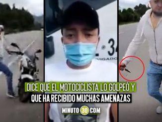 Pide perdón conductor de volqueta que atacó a motociclista