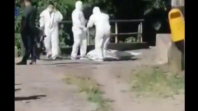 en plena vía pública de Andes encontraron un muerto