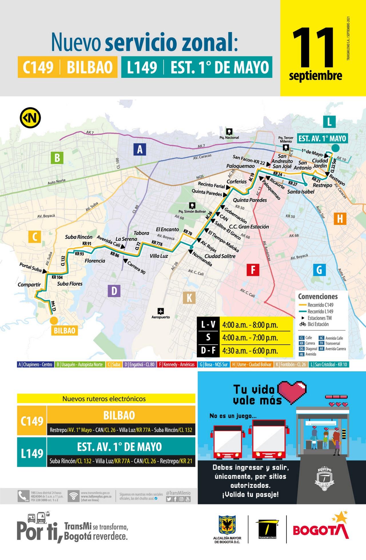 nueva ruta Transmilenio