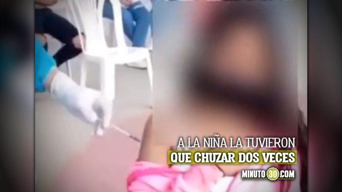 Le pusieron vacuna vacía a niña en Girón, Santander