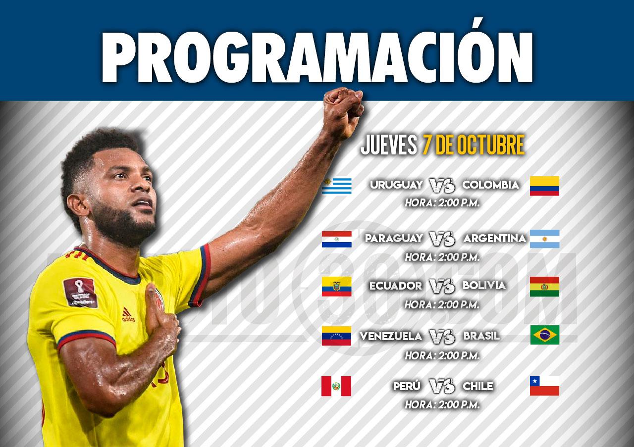 programacion seleccion colombia 10 09 21