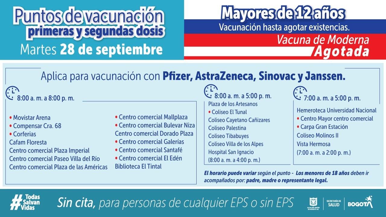 puntos vacunacion covid bogota 8