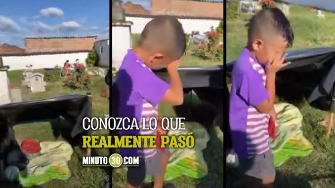Se conoció la verdad sobre el desgarrador VIDEO de niño que supuestamente vive en un cementerio