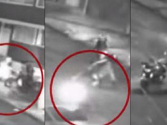 Entre cuatro lo cogieron, uno lo pateó y se le llevaron la moto